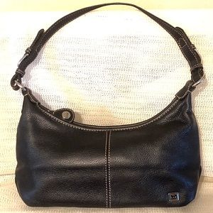 The Sak Small Black Leather Hobo Bag